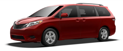 2013 Toyota Sienna LE Salsa Red Pearl