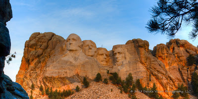 Mt. Rushmore Summer Sunrise Panorama by Dakota Visions Photography LLC www.dakotavisions.com
