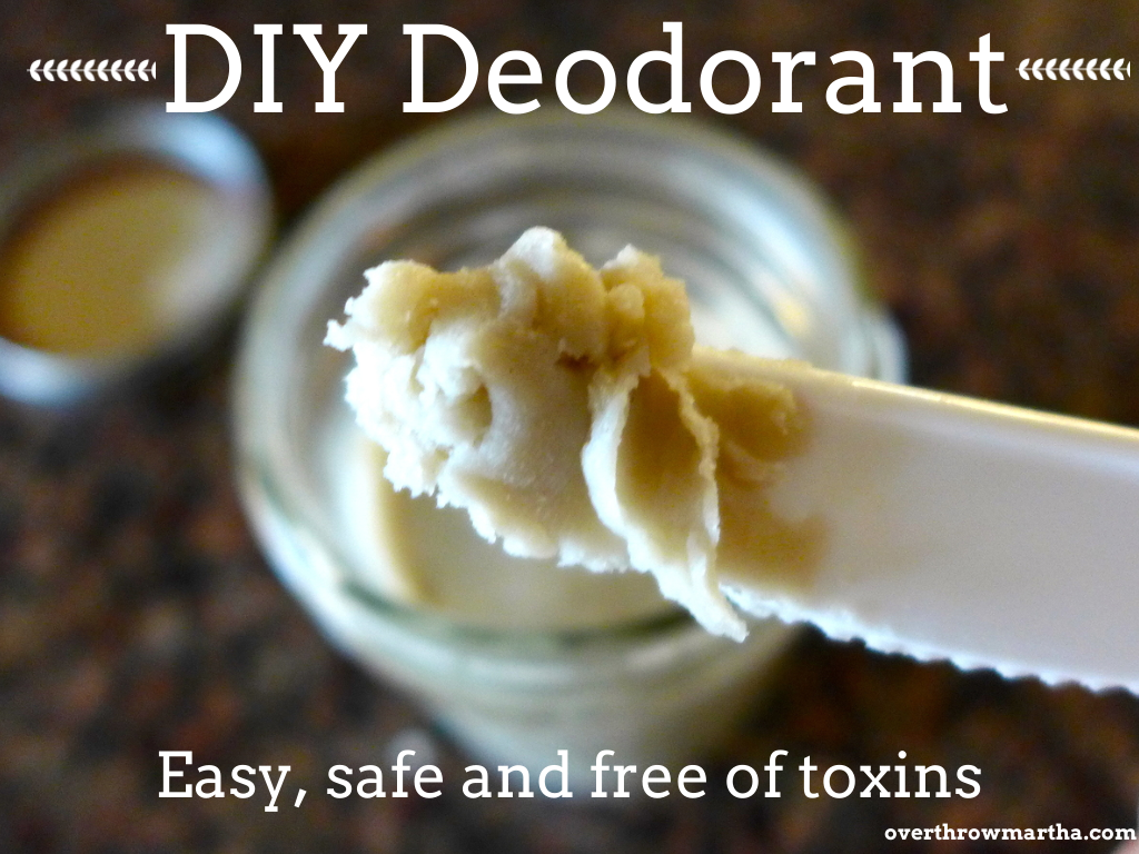 Easy DIY Deodorant with Clay #DIYbeauty