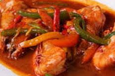 resep praktis (mudah) memasak masakan khas padang udang saus padang spesial enak, gurih, lezat