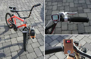 leaf blower powered bike