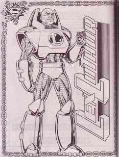 A Lex Luthor pin-up from Superman Jumbo Coloring And Activity Book