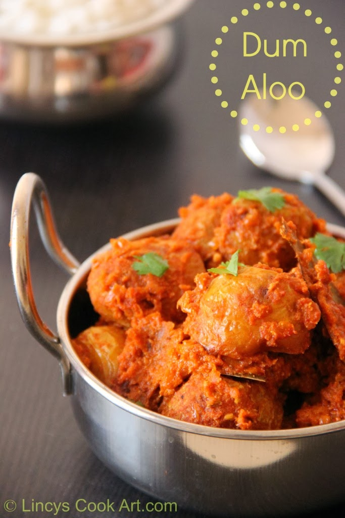 Dum Aloo Kashmiri/ Kashmiri Dum Aloo ~ Lincy's Cook Art
