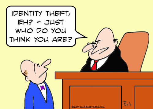 Identity Theft Cartoons and Comics - funny pictures from CartoonStock