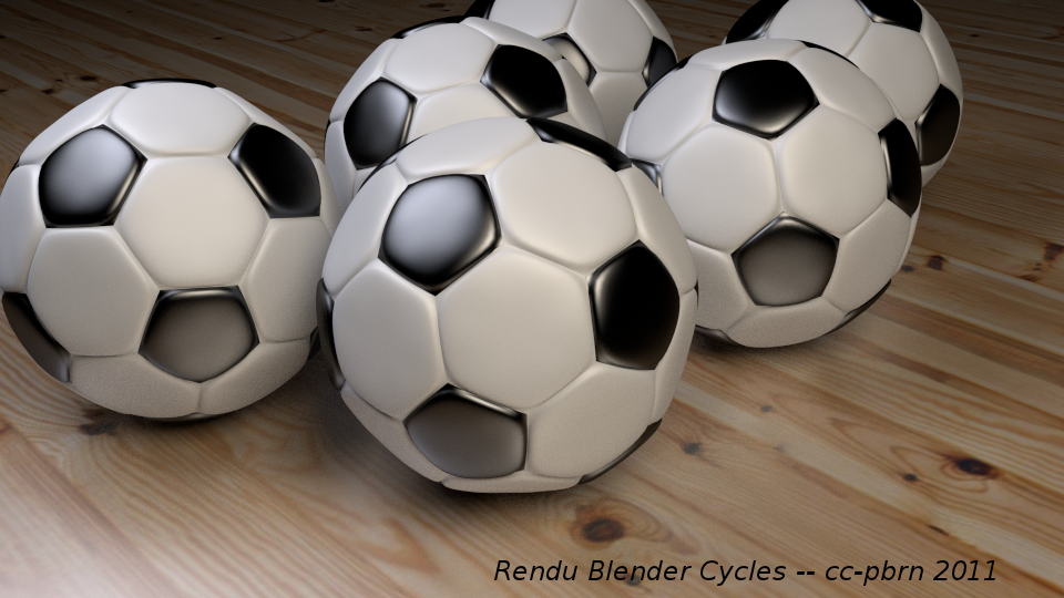 blender 4d ballons de football mod lis s et rendus dans. Black Bedroom Furniture Sets. Home Design Ideas
