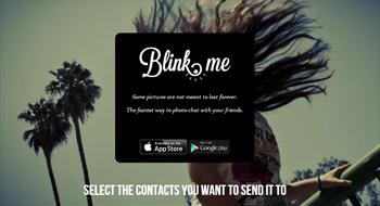 programa tus fotos en las redes sociales con Blink.me - www.dominioblogger.com