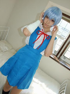 Saya Cosplay as Ayanami Rei (wearing Seifuku) from Evangelion
