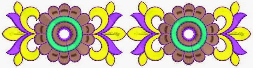 Stippellyn blomme ontwerp Kant grens