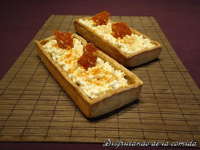 Pumpkin pie con Ricotta y Reducción de Moscatel