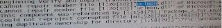 Cannot repair member file [...] urlmon.dll
