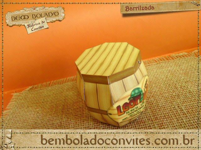 Convite Infantil   Chaves Barrilzada