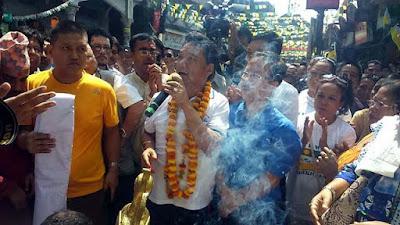 Bimal Gurung started Gorkhaland Jagaran Padyatra
