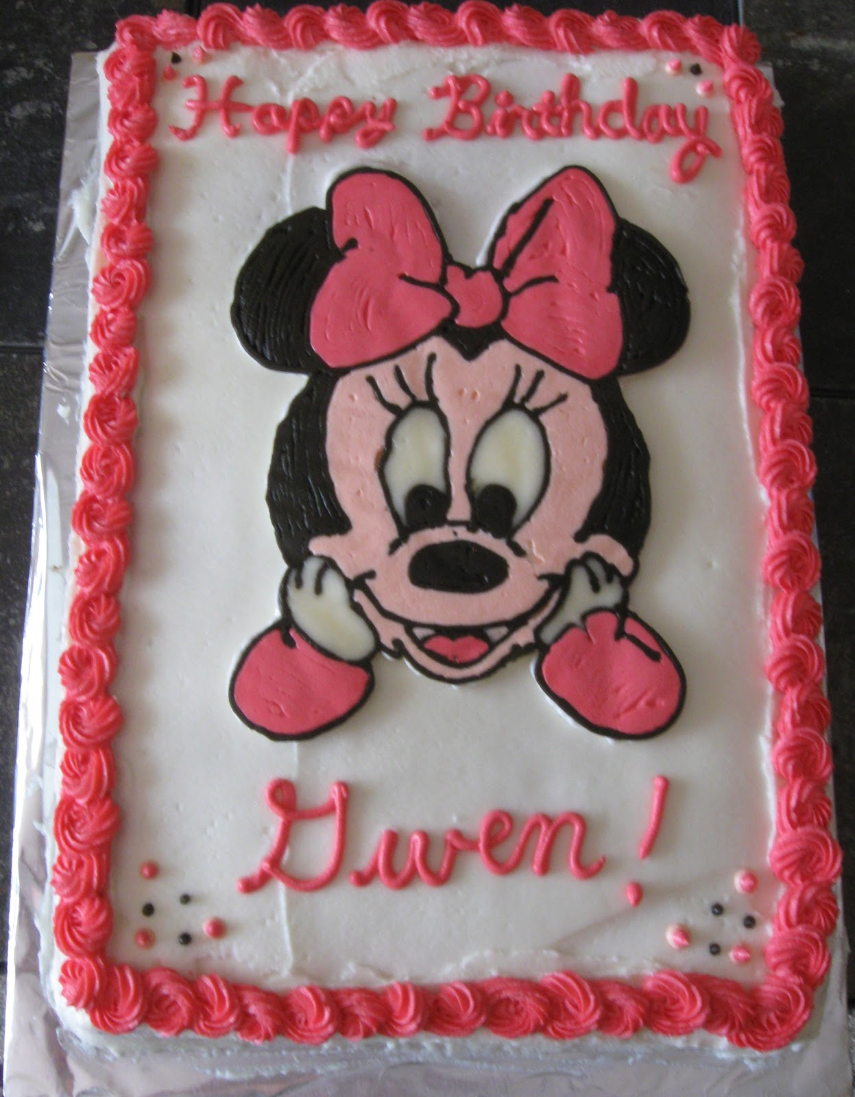 Cattapans Cookies Cakes Minnie Mouse Birthday Cake