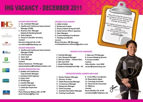 Indonesia Job Vacancy