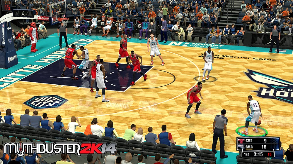 NBA 2K14 Charlotte Bobcats to Hornets Court Update