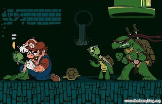 Super Mario vs Turtles