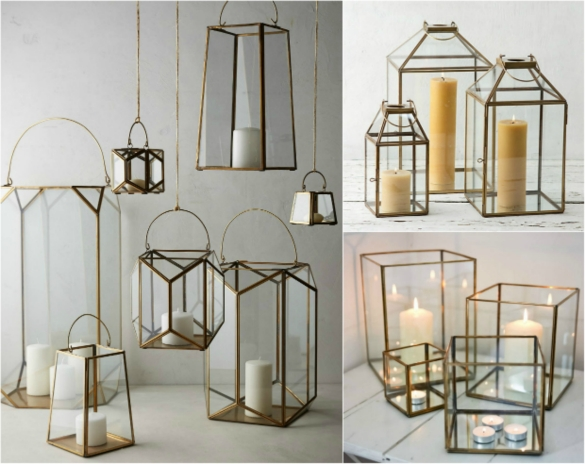 We Ve Seen Glass Geometric Lanterns Like The Inspiration Shots Below Popping Up Across High End Home And Decorating Stores So The Idea Clicked When We