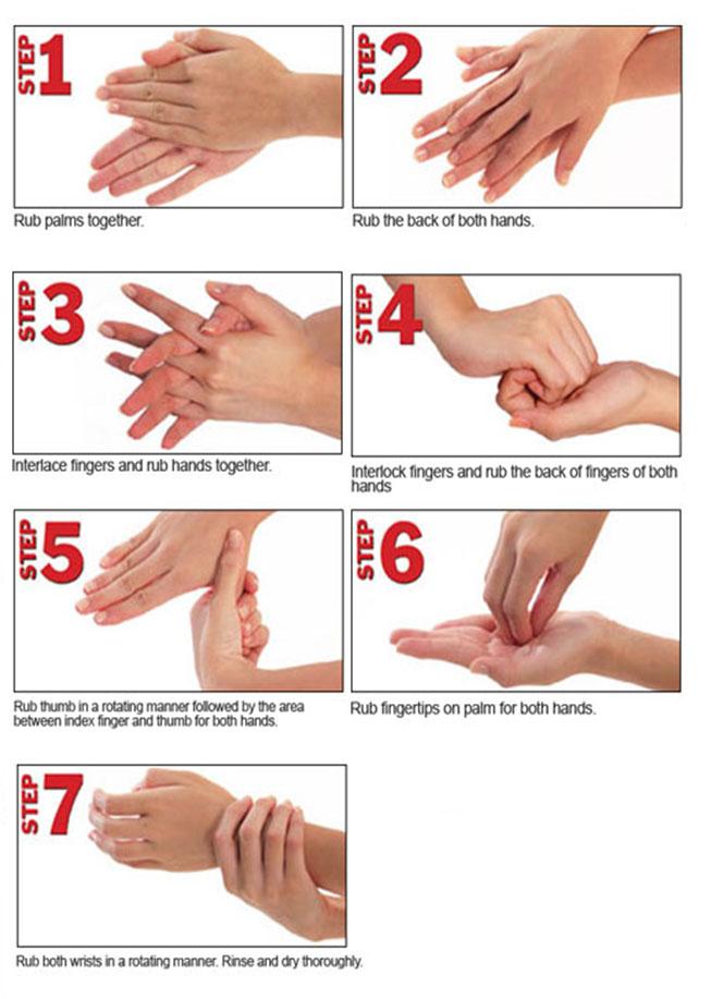 Langkah cuci tangan yang benar