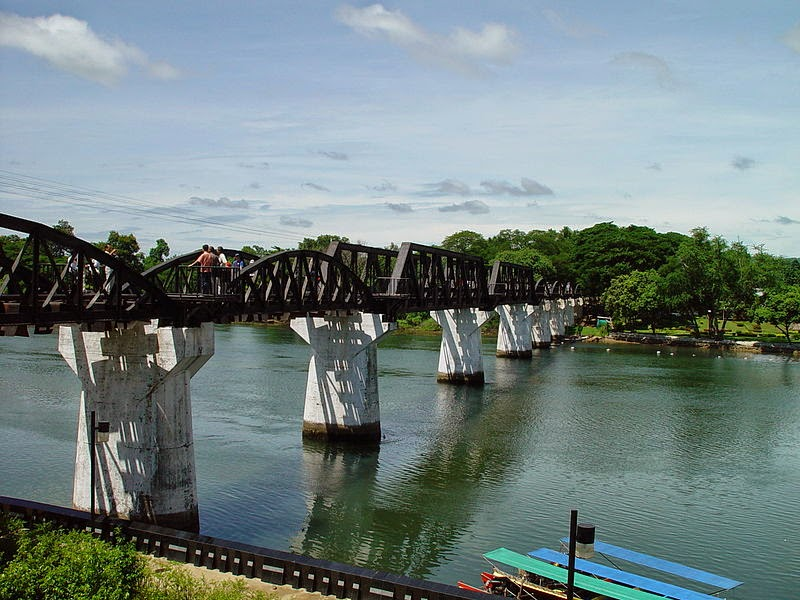 The World Famous Bridge Over The River Kwai Hua Hin In Thailand - World famous river name
