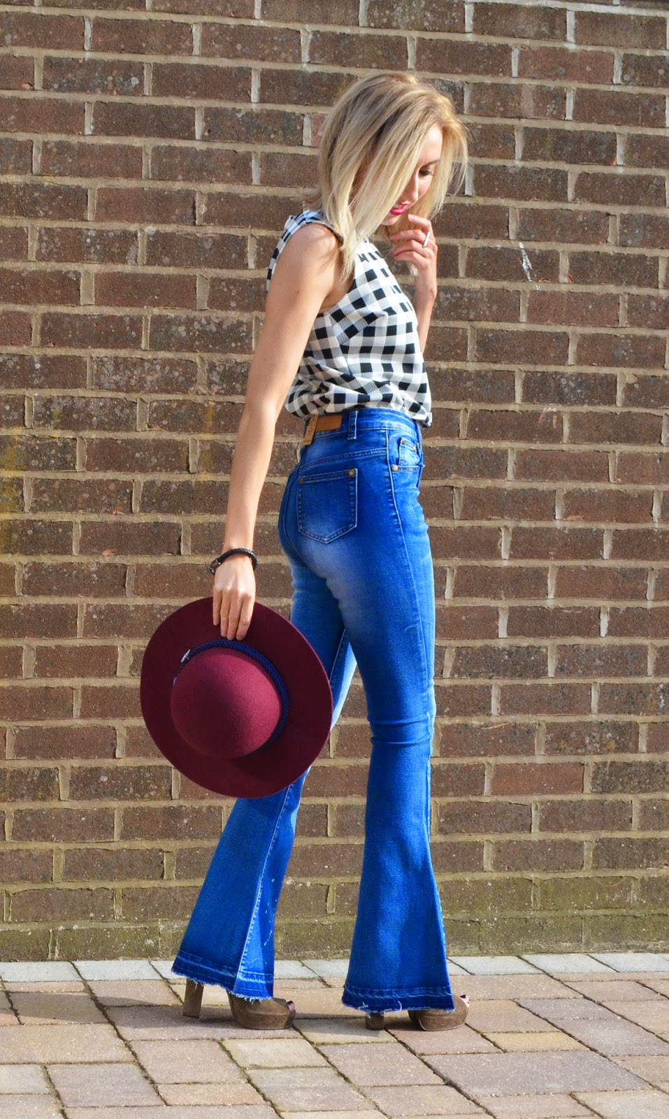 Denim Flares on Rock On Holly Blog