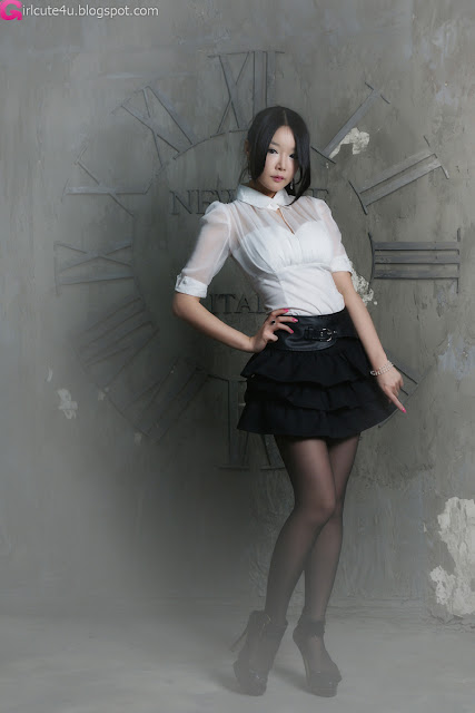 1 Lee Eun Seo - White Sheer and ruffle skirt-very cute asian girl-girlcute4u.blogspot.com