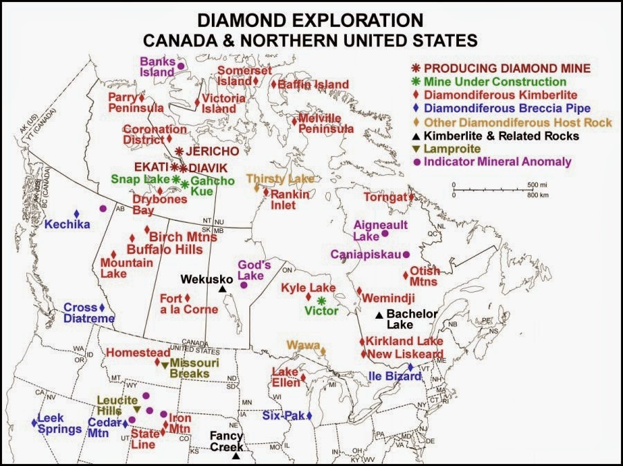 Wyoming Diamond Gemstone Province - Map of northern wyoming