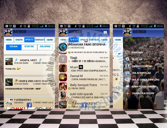 download BBM Mod Super Facebook Theme Apk