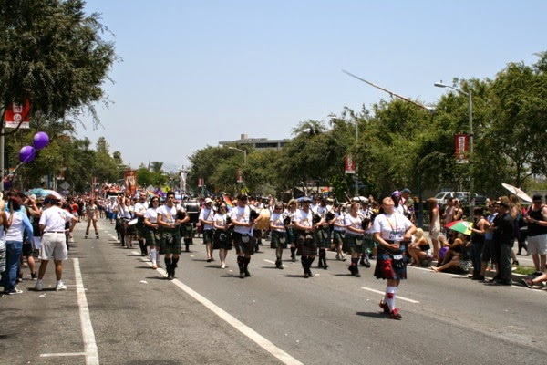 Bagpipers West Hollywood Pride Parade 2014