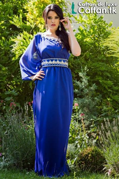 Caftan moderne style indien bleu 2014