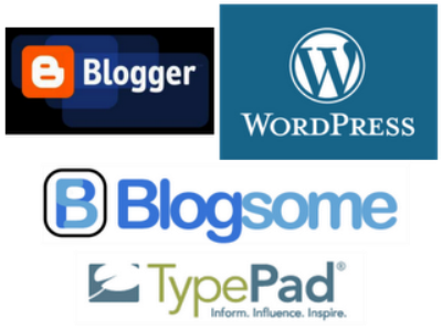 How to use Blogger, Wordpress and Typepad for great blog online store and business.