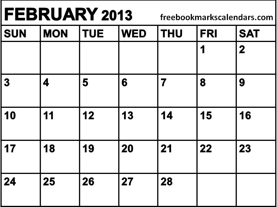 April 2013 Calendar Printable Free