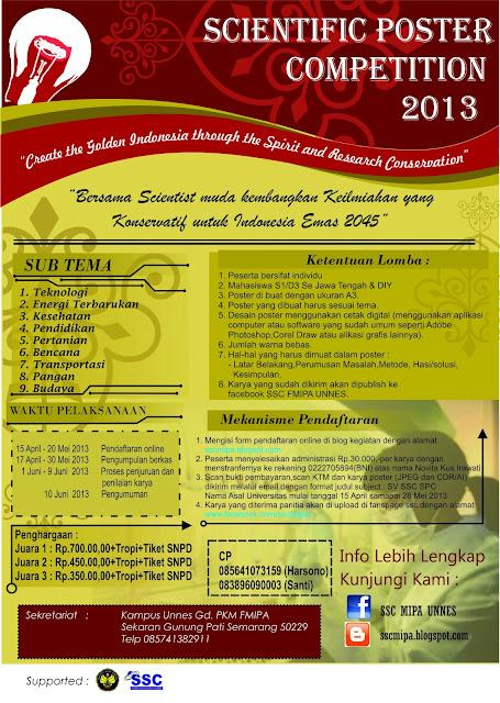 Scientific Poster Competition 2013