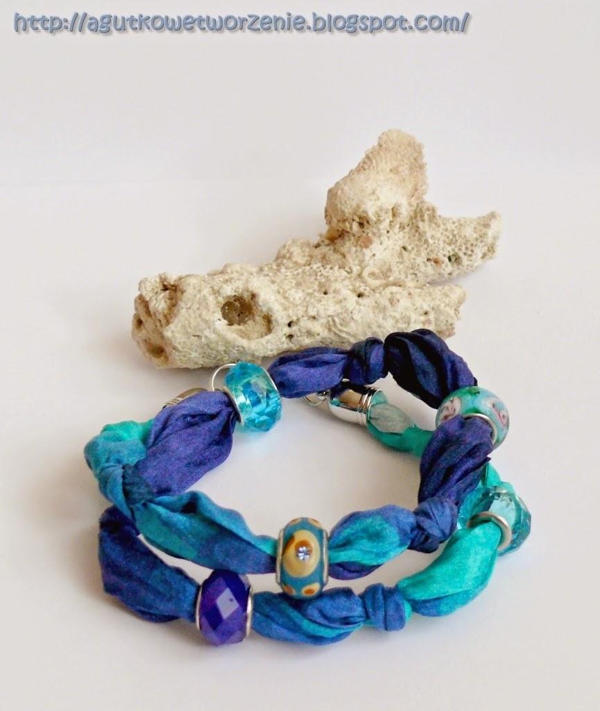 Blue Dżin – jedwabna bransoletka