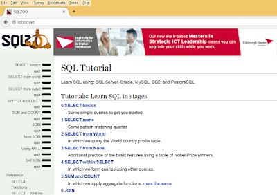 SQLZoo Best Website to Learn SQL Online FREE