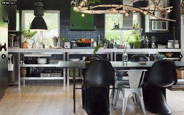Idées sympas pour une cuisine industrielle...