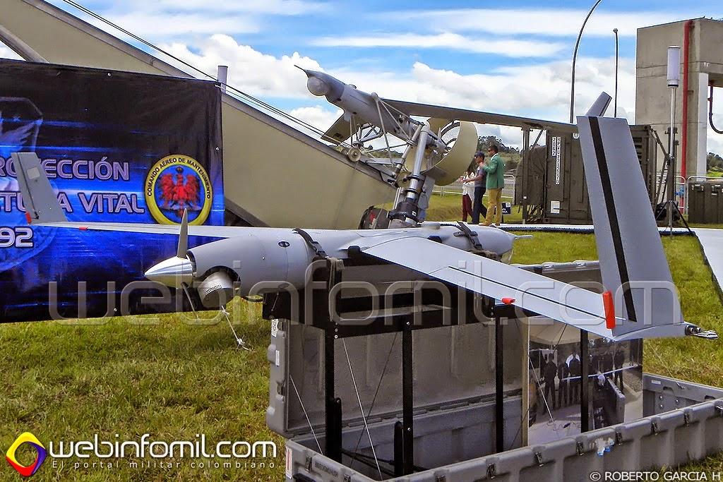 UAV scaneagle Fuerza Aerea colombiana