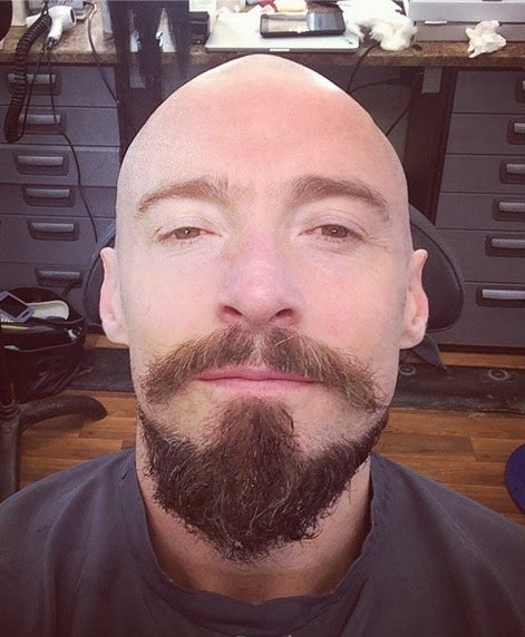 Hugh Jackman with Van Dyke Beard Style