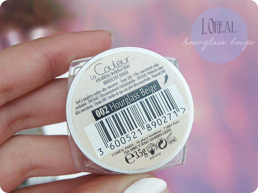 L'Oreal Infaillible 002 Hourglass Beige