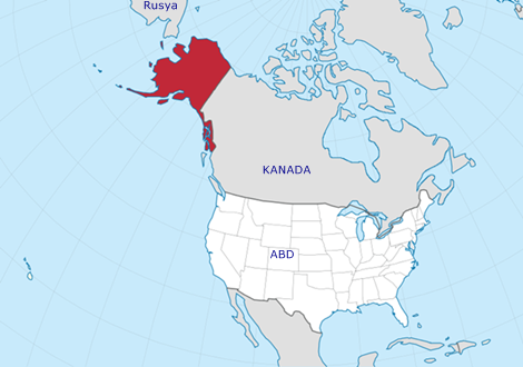 Alaska Nerede Amerika Kanada Harita