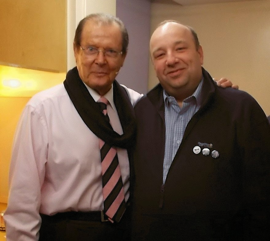Me and Sir Roger Moore