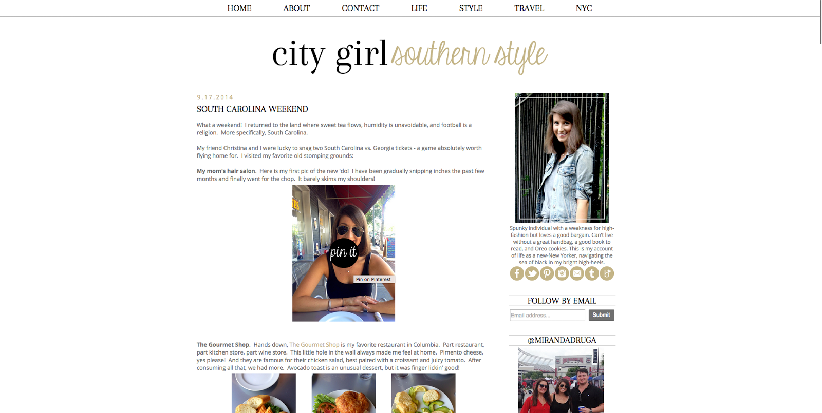 City Girl Southern Style | A Custom Blog Design
