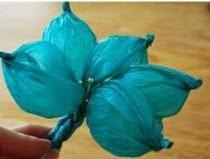 DIY: Flor de papel de seda Paso 5