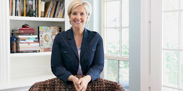Brene Brown in a sunlit office