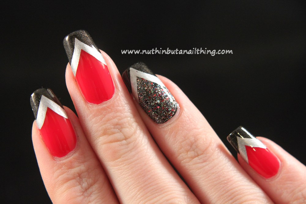 Chevron nail art with Shimmer Vanessa