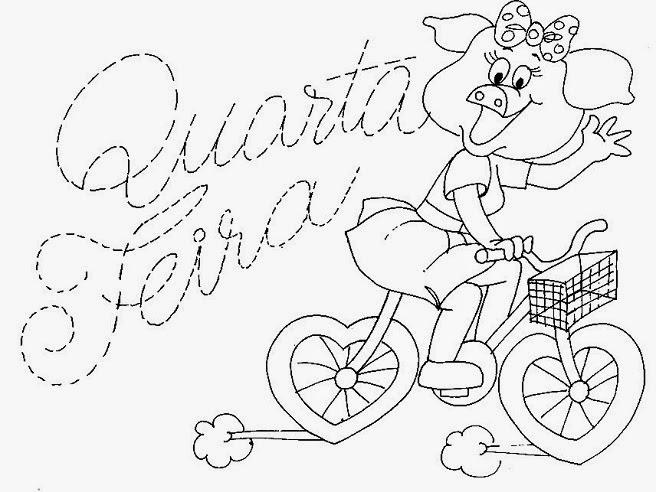 desenho da semaninha da porquinha quarta feira