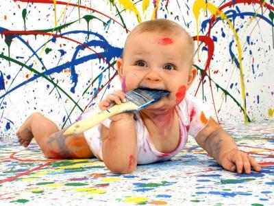 Ense anza y aprendizaje de la expresi n pl stica y visual - Ninos pintando con las manos ...