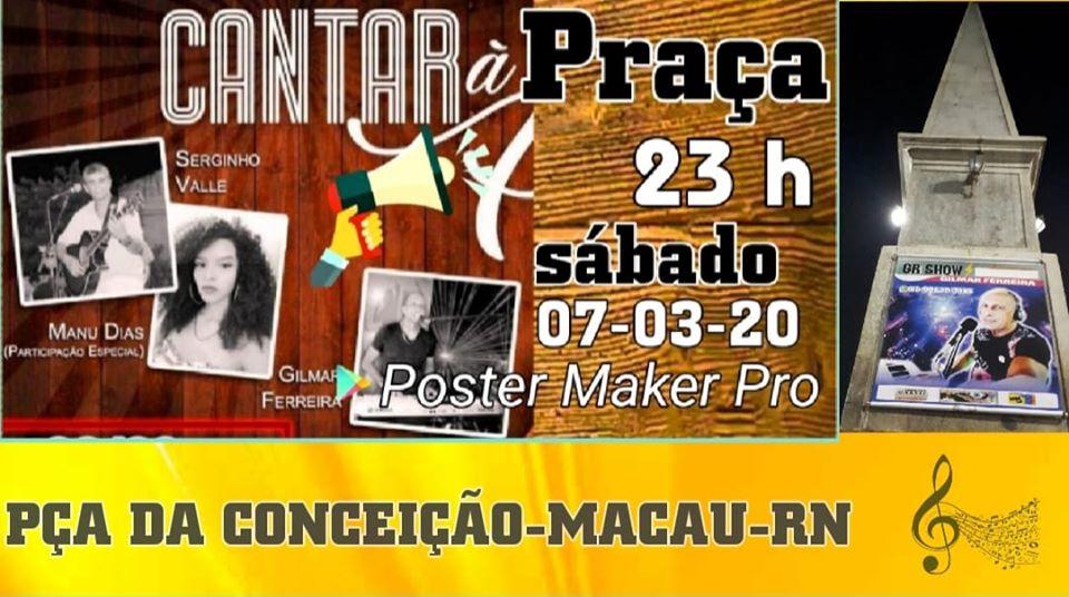 CANTAR A PRAÇA - SÁBADO 7-3-20