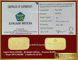 sertifikat emas antam