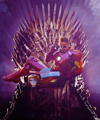 Tony Stark, el mas juerguista de los Starks, en el trono de hierro.