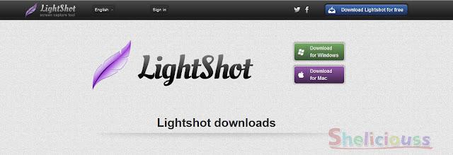 Web download aplikasi Lightshot